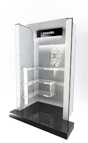 Merchandise Display Case Trapezoid Design