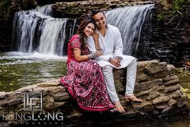 indian wedding photographer ny trash the saree suhana rajib waterfall photo session atlanta