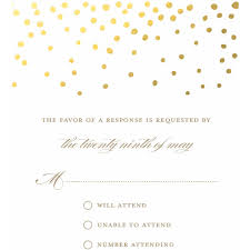 Invitation Reply Card Gold Dots Standard Rsvp Walmart Com