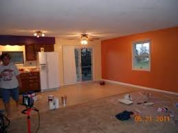 orange accent wall painting idea sherbet paint color by martha