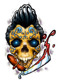 rockabilly sugar skull tattoos pictures to pin on