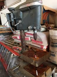 1947 craftsman bench drill press 103 23130 vintage workshop