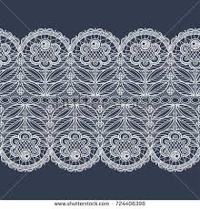 wide lace ribbon floral wide lace ribbon on stock vector 724406398