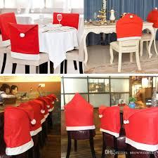 christmas chair covers 2018 christmas decorations dinner party chair cap chair covers