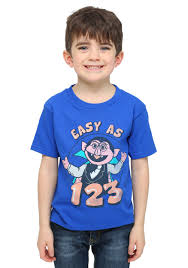 sesame street count 123 toddler boys t shirt