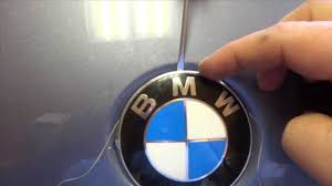 bmw vintage logo diy bmw badge removal youtube