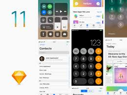 ios11 gui sketch template freebie download sketch resource