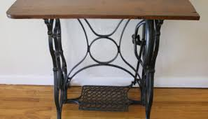 Antique Singer Sewing Machine Table Antique Singer Sewing Machine Iron Table Base With Wood Top
