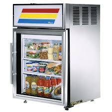 glass door commercial refrigerator true gdm 5 s ld stainless steel countertop display refrigerator
