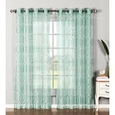 Tab Top Curtains Walmart Curtain Curtain Outstanding Aqua Sheerains Image Design Light