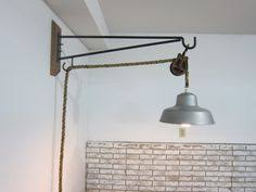wall mounted pendant light large pulley light wall sconce via etsy ideas for work