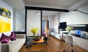 Simple Studio Apartment Design Concept With Fresh Home Interior - Apartment design concept