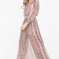 boho chic maxi dress featuring a paisley from thirteenvintage com