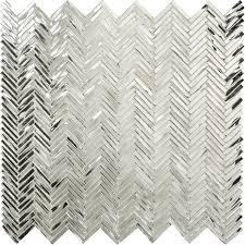 Mirror Tile Backsplash Kitchen by Hip Herringbone Jazz Glass Jazz Glass By Artistic Tile