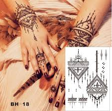 black henna temporary tattoos black tattoo design images free