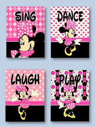 minnie mouse 5x7 prints girls room nursery pink for minnie mouse
