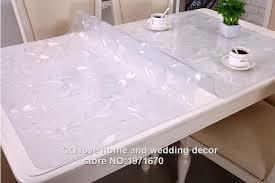 thick plastic table cover 1 5mm thick pvc tablecloths home hotel furnishing oil proof
