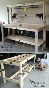 Tool Bench Plans Build A Great Work Bench Ginger U0026 The Huth Workshop U0026 Garage