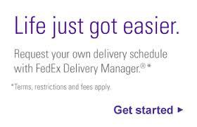 fedex login page