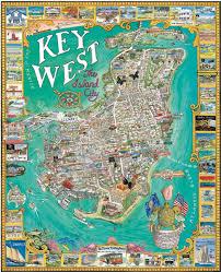 Map Key West Amazon Com White Mountain Puzzles Key West Florida Toys U0026 Games