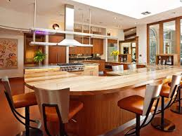 Kitchen Island And Breakfast Bar by Modern Butcher Block Kitchen Dining Table Combined Orange Vinyl