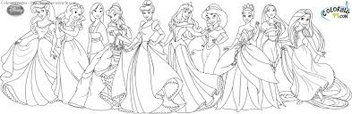 coloring pages of disney princesses