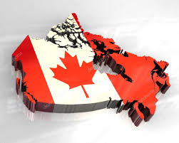 Map Of Canada 3d Flag Map Of Canada U2014 Stock Photo Fambros 5381580