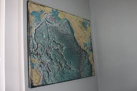 Rare Maps Collection Of The by Earth Deco Stylized From Nature Old Map Art