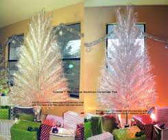 modern design vintage tinsel tree silver trees home