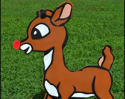 Outdoor Christmas Decorations Animated Deer by Christmas Yard Art Etsy