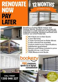 Ezy Blinds News Bookezy Shutters And Blinds