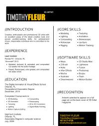 Problem Solving Skills Resume Example 3d Artist Resume Sample Resume For Your Job Application