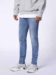 mens light blue jeans skinny diesel sleenker 0688c skinny jeans men light blue 00s7vg0688c