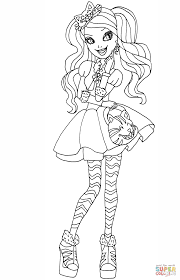 ever after high kitty cheshire coloring page free printable