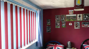 multi coloured vertical blinds football aston villa kids