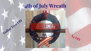Fourth Of July Tablecloths by Dollar Tree Diy 4th Of July 4 Wreath Youtube