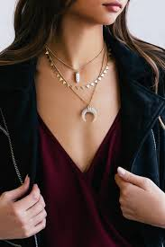 boho layered necklace images Boho necklace gold necklace layered choker necklace jpg