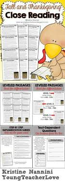 thanksgiving reading comprehension passage and questions reading