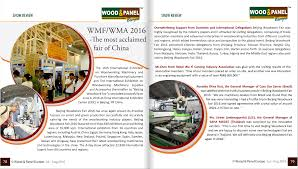 German Woodworking Machinery Manufacturers Association by Media Coverage The 16th International Exhibition On Woodworking