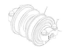 2733996 caterpillar cap track roller