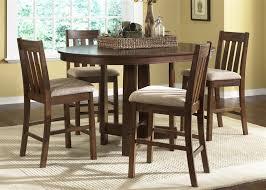 Mission Oak Dining Chairs Urban Mission Pub Table 5 Piece Dining Set In Dark Mission Oak