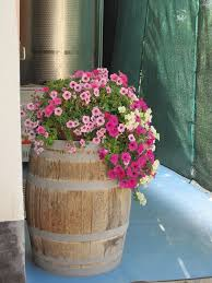 40 best wine barrel planters images on pinterest wine