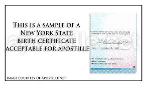 Birth Certificate Correction Sle Letter New York Apostille Apostille Service By Apostille Net