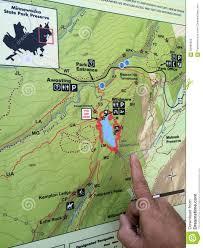 Upstate Ny Map Hiking Map At Minnewaska State Park Stock Photo Image 58490329