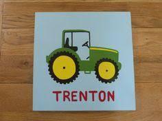 hand painted pallet reclaimed wood john deere tractor sign