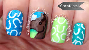 christabellnails horse and horseshoe nail art tutorial youtube