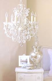 crystal chandelier for kids room with cinderella pink crystals and