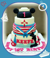 nautical cake loving creations for you nautical mickey mouse 3 5 tier chiffon cake