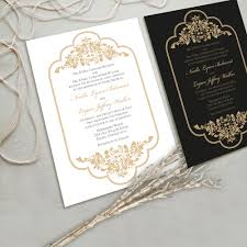 and black wedding invitations gold wedding invitations with glamorous touch registaz