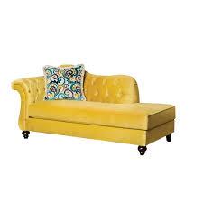 Velvet Chaise Lounge Furniture Of America Dupre Tufted Velvet Chaise Lounge In Royal